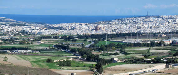 top view  Malta country
