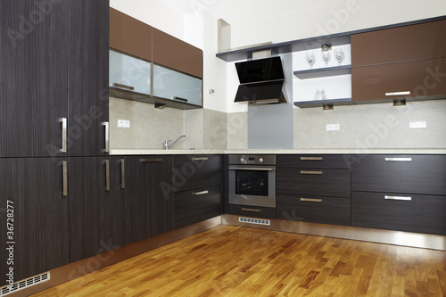 Modern kitchen in apartment