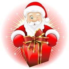 Babbo Natale Regalo Dono-Santa Claus Gift Present-Vector-2