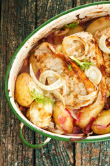 Baked Pork and fennel