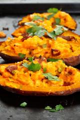 Filled sweet potatoes