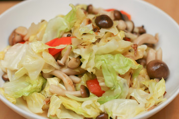 Mushroom and Cabbage