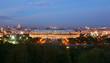 Luzhniki Stadium at evening, panorama of Moscow