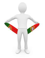 Personnage 3d portugais ruiné tirant sur ses poches