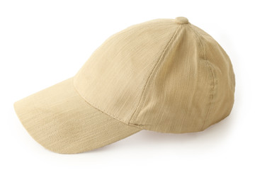 clean new universal beige cap with clipping path on white