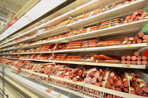 Sausage in shop