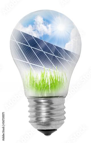 Lamp bulb with solar panels - 36730071