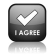 """I AGREE"" Web Button (accept contract ok terms and conditions)"