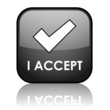 "I ACCEPT"" Web Button (agreement terms and conditions contract)"
