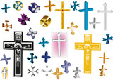 collection of isolated crosses
