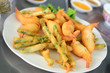 Japanese tempura with variety of vegetables