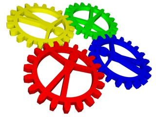 People like gears - company, work, individuality, population