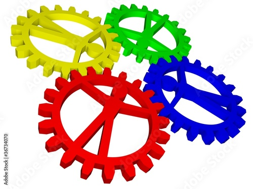 People like gears - company, work, individuality, population