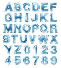 """Постер, картина, фотообои """"ice alphabet"""""""