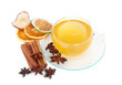 Grüner Tee mit Zimt, Sternanis und Trockenfrüchte