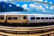 Metropolitan Train and Modern Building