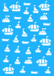 vector background with the boats