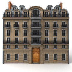 French building rendering
