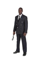 agent des douanes sur fond blanc détouré