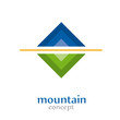 Abstract Logo  Mountain # Vector