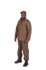 uniforme militaire sur fond blanc détouré profil