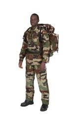 militaire sur fond blanc détouré