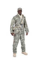 soldat américain sur fond blanc détouré