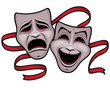 Comedy and Tragedy Theater Masks - 36738847