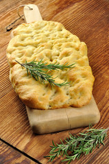 Focaccia with rosemary