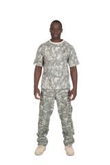militaire américain fond blanc