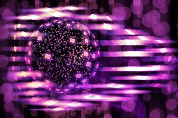 Disco ball explosion