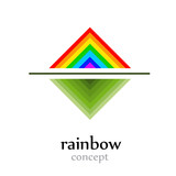 Abstract logo  rainbow concept # Vector