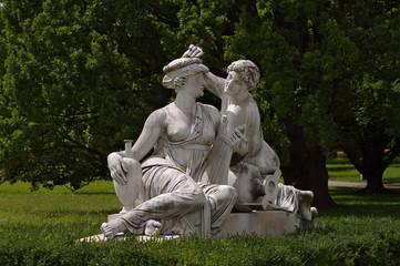 Statue of Nymphs at Rosenstein castle in Stuttgart