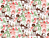 Print repeated Christmas pattern