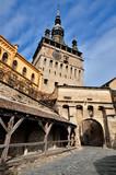 Sighisoara, Clock Tower, saxon landmark of Transylvania poster