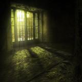 door in an abandoned complex