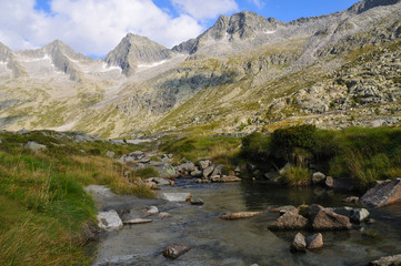 creek in glacial valley