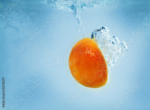 orange submerged