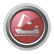 "Red 3D Style Button ""Harbor"""