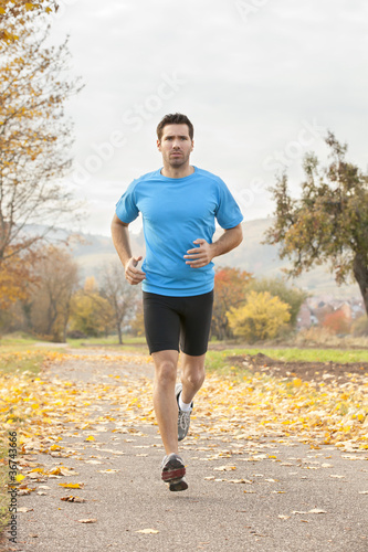 a man athlete runing