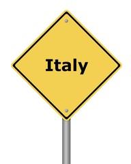 Warning Sign Italy