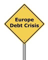 Warning Sign Europe Debt Crisis