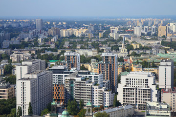 Warsaw - aerial view