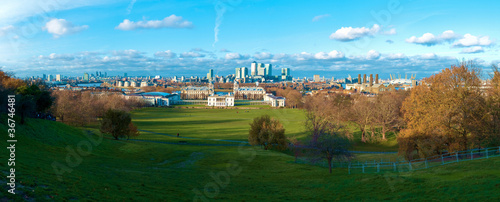 London Greenwich Panoramic View