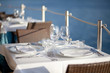 table setting by the sea
