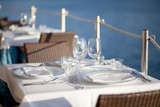 Fototapety table setting by the sea