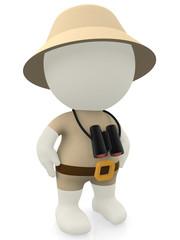 3D explorer on a safari
