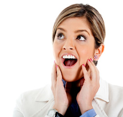 Shocked business woman