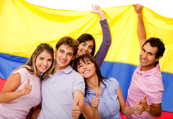 Group of Colombian friends