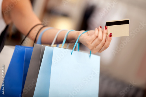 Shopping with a credit or debit card